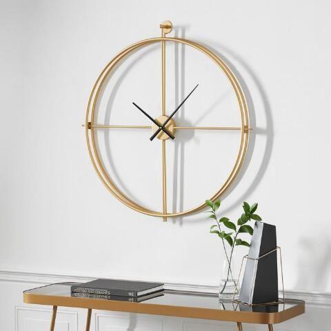 Gold Metal Minimalist Wall Clock World Market In 2020 Minimalist Wall Clocks Wall Clock Clock