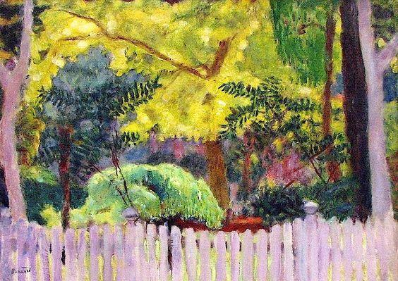 """terminusantequem: """"Pierre Bonnard (1867-1947) - Violet Fence (1923) """""""