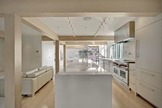 I like the light colored wood with white furnishings. Possible to have different type of wood used in different areas?