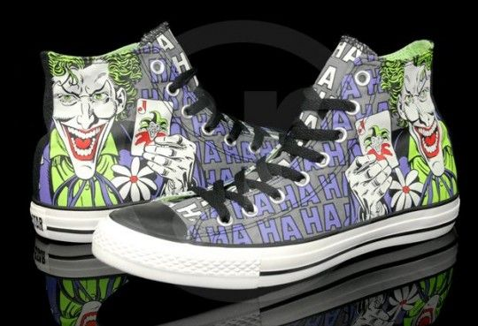 5a1be8e27c31 Converse Chuck Taylor All Star Hi DC Comics Heroes Pack Batman vs Joker  Hahaha!
