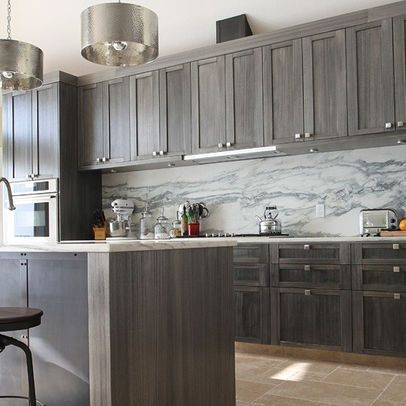 kitchen cabinets brown and gray - Google Search