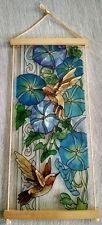 Joan Baker stained glass Hummingbird & Morning Glory Sun Catcher