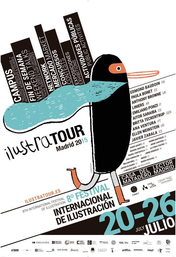 8a edició del festival internacional d'il·lustració #Ilustratour, que enguany se celebra a Madrid del 20 al 26 de juliol. inscripció d'un 10% de #descompte per a socis d'APIV.