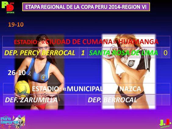 """Vive TÚ Pasión... El Deporte"": COPA PERÚ - ETAPA REGIONAL VI 2014 - Segunda Rueda..."