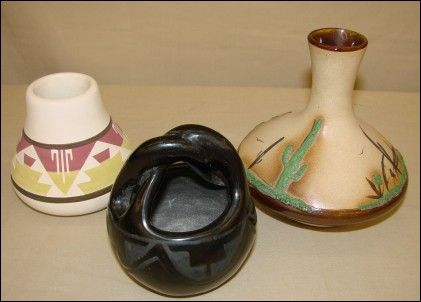 Native American art pottery