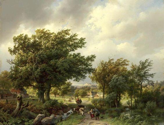 Barend Cornelis Koekkoek - Weg tussen de bomen 1854
