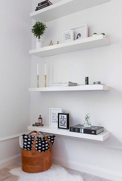 31 Floating Shelves Ideas For Your Home White Floating Shelves
