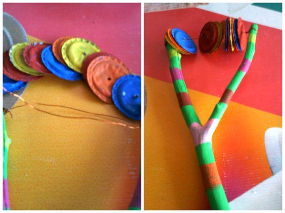 Instrumentos musicales hecho con material reciclable - Trabajos caseros para hacer en casa ...