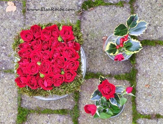 DIY Kerstsfeer met bloemen (decoração de Natal com flores) :: ElsaRblog