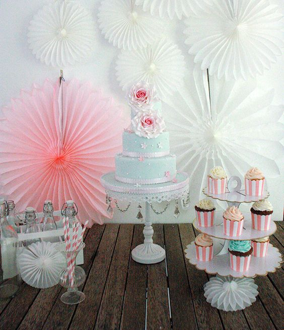 Sweet table by Partyerie #pink #mint