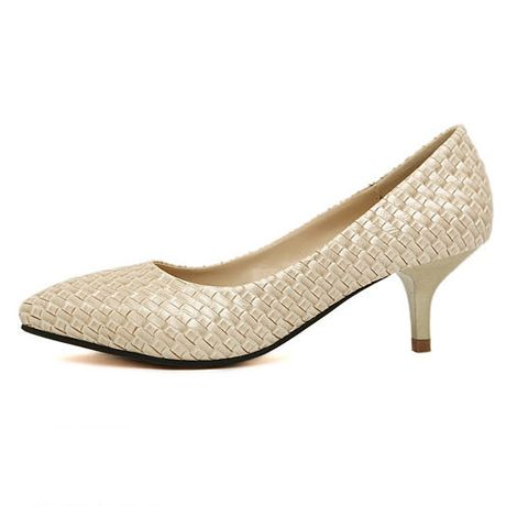 Woven Pointed Toe Pumps