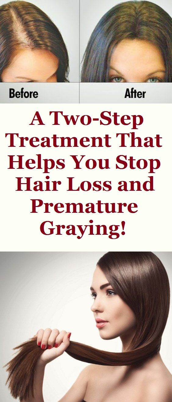A Two-Step Treatment That Helps You Stop Hair Loss and Premature Graying!
