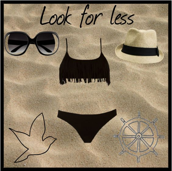"""Little black Dress on the beach"" by beautiful-tip-girls-of-polyvore ❤ liked on Polyvore"