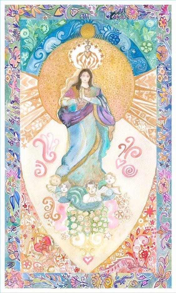 N Senhora da Conceição, aquarela pintada com água benta e muito amor._Sonia Madruga