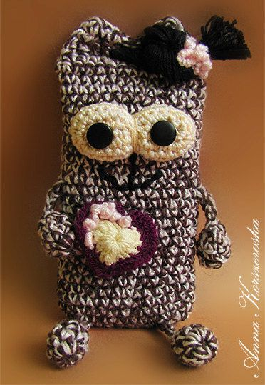 Miss JUKI  crochet cell phone smartphone case by AnnaKorszewska