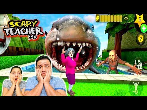 Melike Elif Ogretmen Youtube Scary Teacher Pool Float