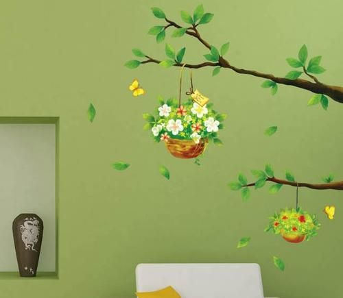 Hanging Basket Home Decor Removable Wall Sticker Decal Decoration | eBay