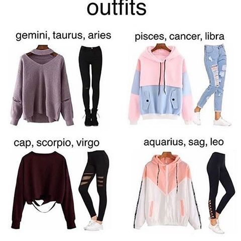 Zodiac sign fall winter outfits