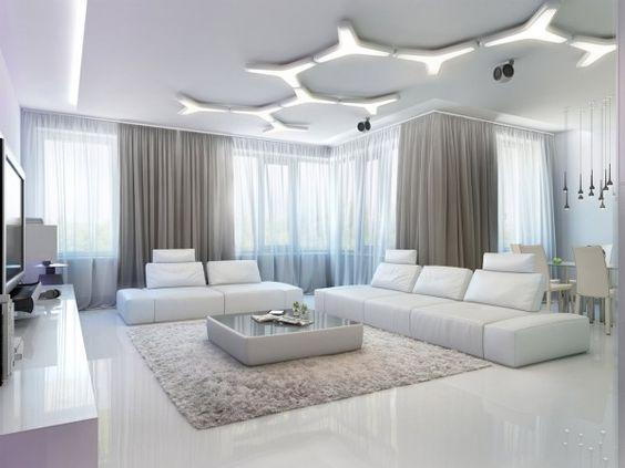 A bright idea: This modular ceiling light consists of Y shaped ...:A bright idea: This modular ceiling light consists of Y shaped pieces that  have been,Lighting