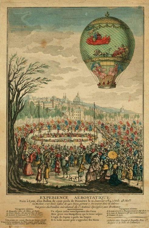 Hete luchtballon, 1784.: