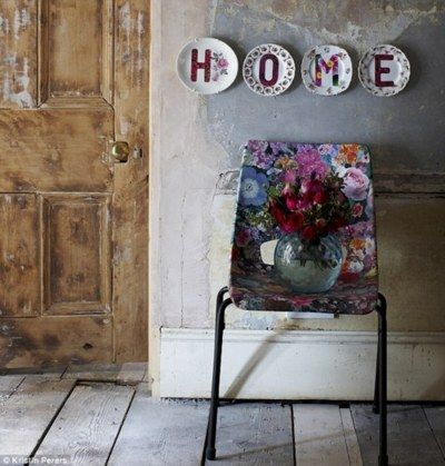 Bohemian Inspiration Home plates chair
