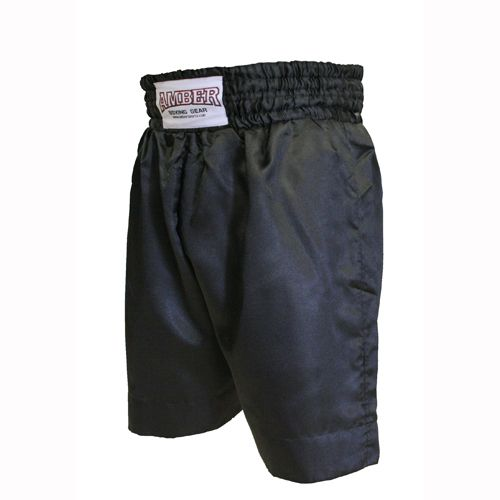 Solid Black Boxing Shorts   $25.00