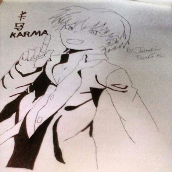 My karma drawing from assianation classroom. #Karma #AssianationClassroom