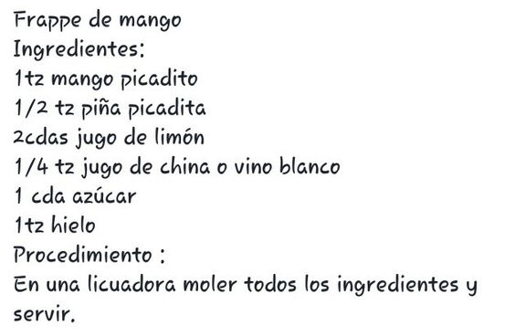 Frappe de mango