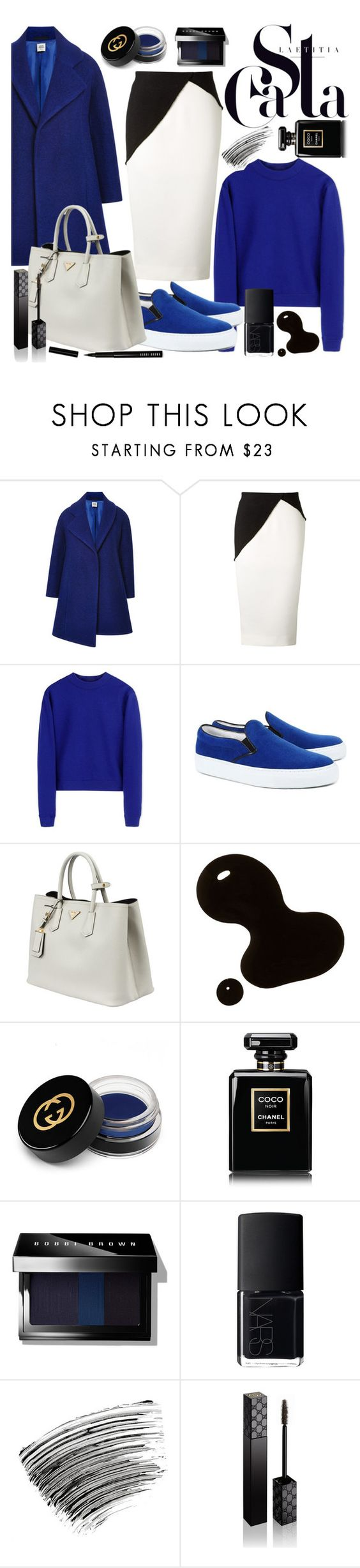 """Royal blue"" by thysania ❤ liked on Polyvore featuring Opening Ceremony, Victoria Beckham, Acne Studios, Amb Ambassadors of minimalism, Prada, Gucci, Chanel, Bobbi Brown Cosmetics, NARS Cosmetics and Blue"