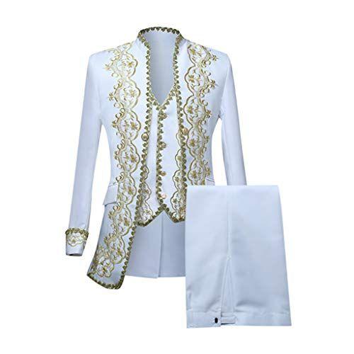 Veste de Costume Homme Gothique Cour Blazer Slim Fit Uniformes Performances Style Europ/éen Coat Youngii