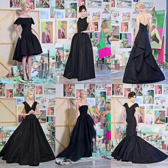 """Quando chega a hora de escolher um vestido de festa para uma ocasião especial, como casamentos, formaturas ou outros eventos, sempre bate uma dúvida sobre qual cor escolher para o look.  Se não tem certeza de qual é a melhor cor para você, é sempre seguro apostar no preto. É elegante, sofisticado e muitos dizem que é o básico no guarda roupa de qualquer mulher. É também a melhor cor para quem está acima do peso.  Não fique com a impressão de que vestidos de festa pretos são """"sem graça""""…"""