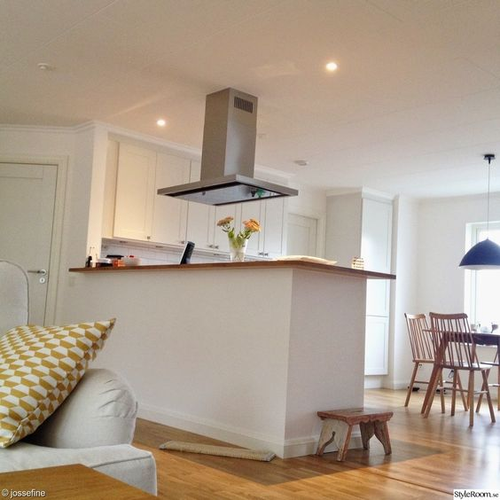 Öppen planlösning,vita väggar,ljust,kökö,vardagsrum,vit soffa ... : köksskåp vardagsrum : Kök