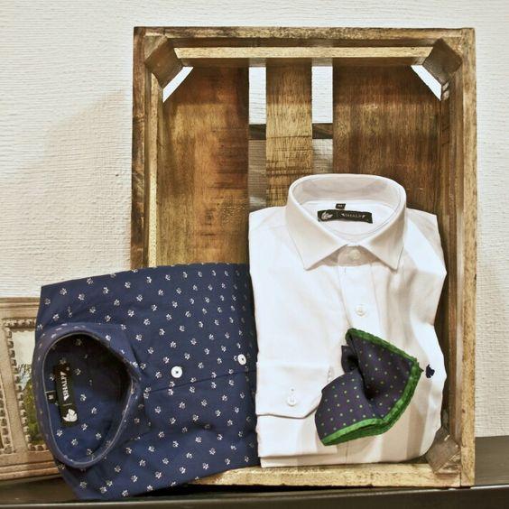 Camisa azul navy+Oxford Shalp