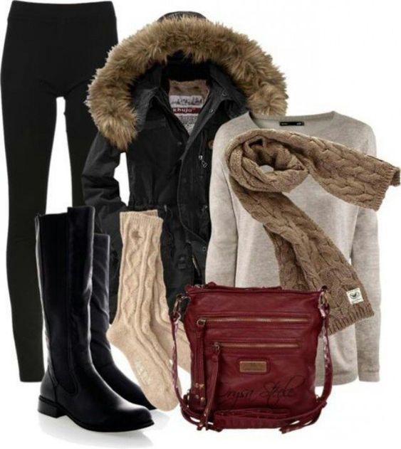 Idea Outfit quente para o inverno 2015