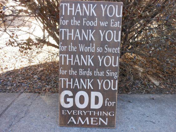 Thank You Prayer 12 x 24 subway art by signart04 on Etsy, $39.00