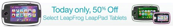 50% Off LeapFrog LeapPad Tablets **Today Only** - http://www.swaggrabber.com/?p=286779