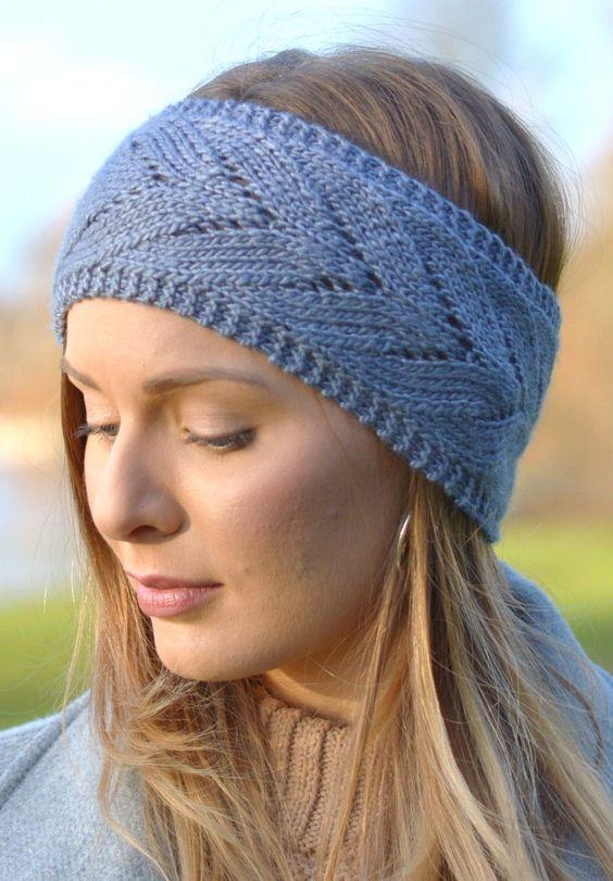 Free Crochet Chevron Ear Warmer Pattern : Knitting Pattern for Chevron Lace Headband - Quick and ...