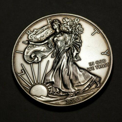 Bullion Toned 2010 1 Oz Silver American Eagle Coin Coin Collectible Eagle Coin Bullion Silver Eagle Coins