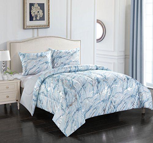 Pop Shop Marble Comforter Set Twin Silver Best Quilted Comforter Set Usa Marble Comforter Comforter Sets Bedding Sets