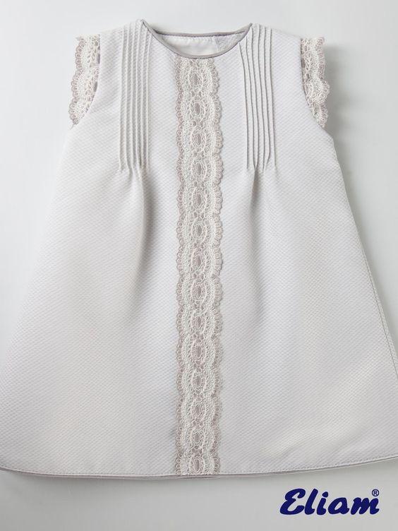 Vestido Piqué Gris Claro - Productos bebé de siempre - Bebé de siempre - Tienda…