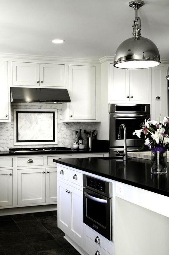 black white kitchen black white kitchen kitchen design decorating ideas image