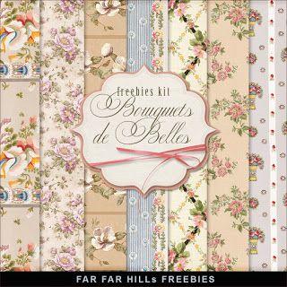 New Freebies Kit of Paper - Bouquets de Belles