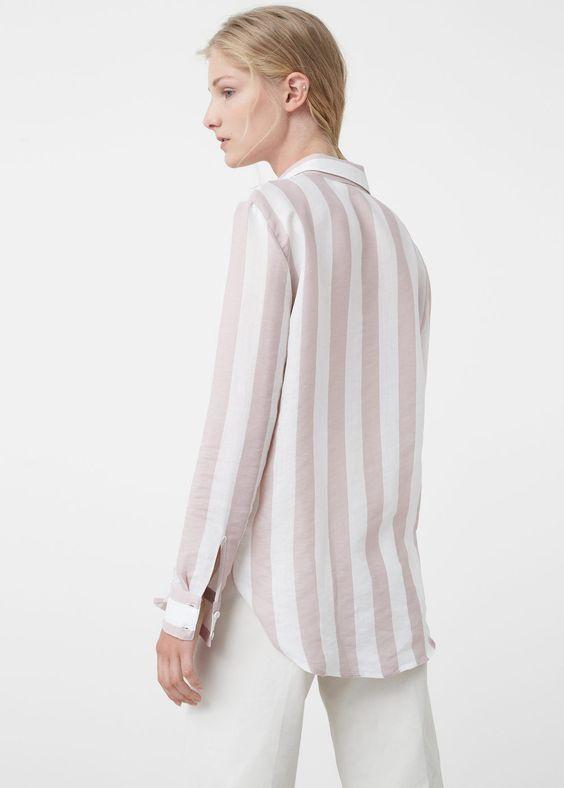 Fließendes hemd mit muster | MANGO