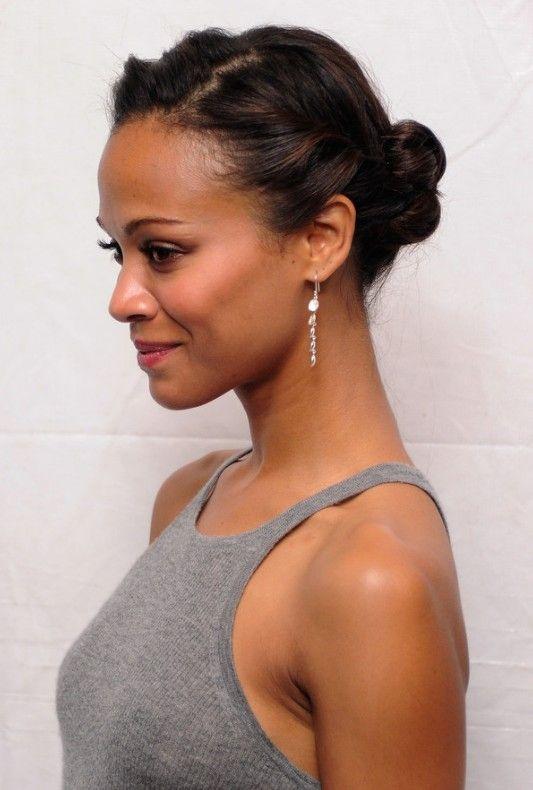 Stupendous Zoe Saldana Daily Hairstyles And Updo On Pinterest Short Hairstyles For Black Women Fulllsitofus