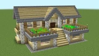 Minecraft How To Build A Birch Survival House マインクラフトの