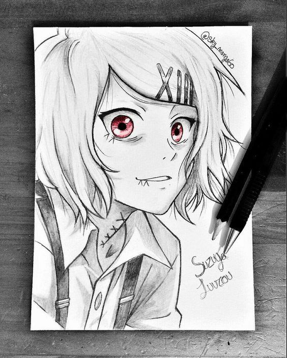 Dibujo De Chica Anime Manga Hecho A Lapiz Ojos De Color Arte De Anime Dibujos De Anime Dibujo A Lapiz Anime