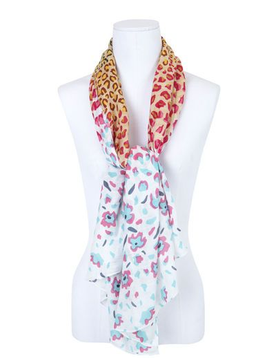 SuiteBlanco- Foulard animal print degrade