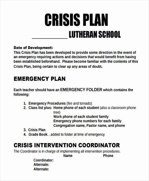 Crisis Management Plan Examples Unique 11 Crisis Plan Templates Sample Word Google Docs Apple Pages Communication Plan Template Communications Plan How To Plan