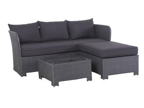 Layla 4 piece lounge setting white Outdoor Furniture Pinterest - rattan lounge gartenmobel