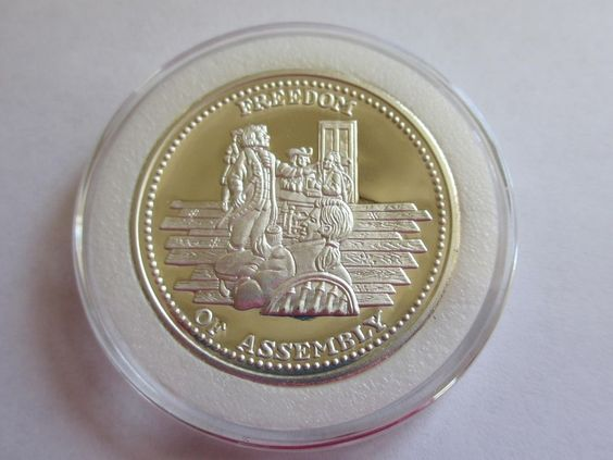 1 Oz Johnson Matthey Silver Round Coin Freedom Of Assembly Coins Silver Bullion Silver Coins